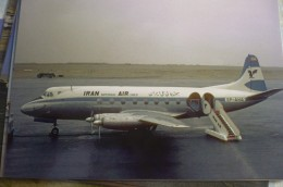 IRAN AIRLINES        VICKERS VISCOUNT  EP AHA     AIRPORT  THR 1964       Collection Vilain