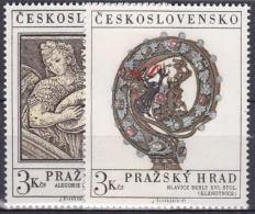 ** Tchécoslovaquie 1971 Mi 2002-3(Yv 1850-1), (MNH)