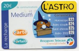 ANTILLES FRANCAISES RECHARGE BOUYGUES TELECOM L'ASTRO MEDIUM 20€ Date 03/2002 - Antilles (French)