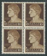 1929-42 REGNO IMPERIALE 10 CENT QUARTINA MNH ** - CZ32-5 - 1900-44 Victor Emmanuel III