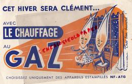BUVARD LE CHAUFFAGE AU GAZ - APPAREILS ESTAMPILLES NF-ATG - Electricité & Gaz