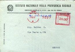 14771 Italia,red Meter/freistempel/EMA/affrancatrice Rossa/venezia 1949 Provincia Di Venezia,circuled Cover - Affrancature Meccaniche Rosse (EMA)