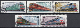 Sowjet Unie - Sowjet Lokomotieven/lokomotiven/locomotives - Gebruikt/gebraucht/used - Y 4907-4911 - Treinen