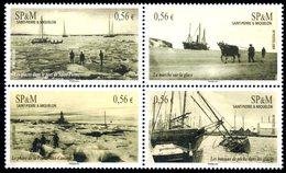 """SPM Saint-Pierre Et Miquelon 2009 Timbres Se-tenant Du Bloc-feuillet N° 14 YT 961-964 ** """"Le Port De Saint-Pierre..."""" - Blocks & Sheetlets"""