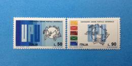 1974 ITALIA FRANCOBOLLI NUOVI STAMPS NEW MNH** - UNIONE POSTALE UNIVERSALE UPU - - 6. 1946-.. Repubblica