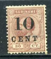 RARE 30 CT SURINAME 1890 OVERPRINT 10 CENT NEDERLAND EMPIRE SUPERB STAMP  TIMBRE - Surinam ... - 1975