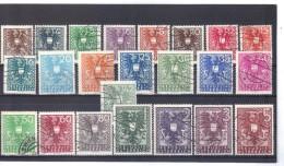 MAG825 ÖSTERREICH 1945 MICHL 627/19  WAPPENSERIE Used / Gestempelt SIEHE ABBILDUNG