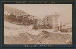 Photo Fotograf Unbekannt, Ansicht Schuls-Tarasp, Hôtels Alt- & Neu-Belvédère - Luoghi
