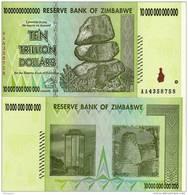 Zimbabwe 10,000,000,000,000 (10 Trillion), 2008 AA UNC - Zambia