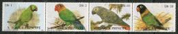 St Thomas Et Prince ** N° 865 à 868 Se Tenant - Oiseaux : Perroquets -