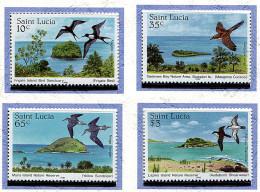 Ste Lucie ** N° 759 à 762 - Zones Protégées Et Oiseaux - P