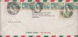 MEXICO 1960 - 6 Fach Frankierung Auf Großen LP-Leichtbrief Gel.v.ABOGADO Nach TULLN, Kuvert Auf Linker Seite Neben ... - Mexiko