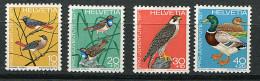 Suisse ** N° 891 à 894 - Oiseaux  - - Neufs