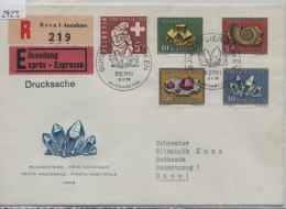 1958 Pro Patria B86-B90 627-661 FDC First Day Ausgabetag Charge Einschreiben Von Bern Nach Basel - FDC