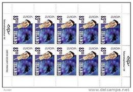 Cept 2002 Islande Iceland Ijsland Yvertn° C938 *** MNH Carnet Cote 35,00 Euro - Cuadernillos/libretas