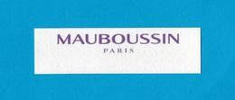 Cartes Parfumées  Carte  MAUBOUSSIN - Perfume Cards