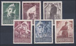 Österreich 1947: ANK 838-843, Serie Kriegsgefangene * Mit Falz