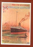 1 Cp E D Argence Messageries Maritimes - Autres Illustrateurs