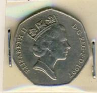 PIECE MONNAIE 50 PENCE 1997 ELISABETH - 1971-… : Monnaies Décimales