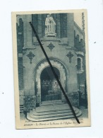 CPA   -   Anzin  - Le Parvis Et La Statue De L'église - Anzin