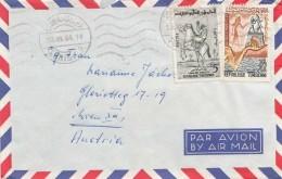 TUNESIEN 1964 - 2 Fach Frankierung Auf LP-Brief Gel.nach Wien - Tunesien (1956-...)