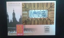 FDC.ESPAÑA 2016 /Exfilna 2016. Zaragoza. Palace Of Sastago / BARCELONA - FDC