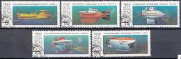 Sowjet Unie - Onderzeeboten - Maritiem Onderzoek - Gebruikt/gebraucht/used - Y 5799-5803 - Maritiem