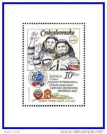 CZECHOSLOVAKIA 1979 RUSSIA/CSSR JOINT SPACE FLIGHT S/S SC#2226 MNH