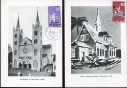 14783, Suriname 2 Maximum 1966  The Churchs Of Paramaribo And Batavia,