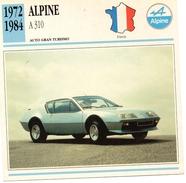 """Auto Da Collezione  """"Alpine  1972  A310"""" (Francia) - Motori"""