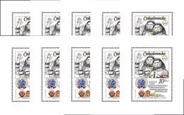 CZECHOSLOVAKIA 1979 WHOLESALE = SPACE FLIGHT RUSSIA/CSSR  X10 S/S  MNH SC#2226