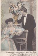 Lot De 4 Cartes Postales Anciennes Femme Homme Enfant Couple - Postcards