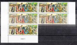 MAYOTTE - Timbres DANSE DU CHIGOMA - Bloc De 5 Timbres - Année 2010 - Unused Stamps
