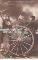 Lot De 4 Cartes Postales Anciennes Militaire Patriotique - Postcards