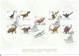 België     2015   First Day Sheet    Geduchte Dino´s     (0) - FDC