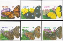 Vanuatu 1998, Postfris MNH, Flowers, Butterflies - Vanuatu (1980-...)