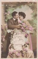 Lot De 4 Cartes Postales Anciennes Couple - Postcards
