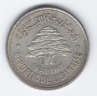 Libano 1952 - 50 Piastre-Silver - Libano