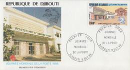 Enveloppe  FDC  1er  Jour   DJIBOUTI    Journée  Mondiale  De  La  POSTE    1988 - Poste