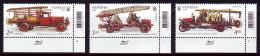 UKRAINE 2016. HISTORY OF FIREFIGHTING TRANSPORT. Set Of 3 Stamps Mi-Nr. 1579-81. MNH (**) - Cars