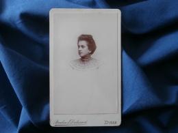 Photo CDV Brulin & Delanoë à Dinan -  Portrait Nuage Femme Au Bustier En Dentelle - Circa 1895 L281 - Photos