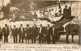"""AVIGNON FETES DE LA MI-CAREME ET GD CORSO CARNAVALESQUE 26 MARS 1922 CHAR DES ENFANTS DU RHONE """"LOU PESCADOU"""" 1 ER PRIX - Avignon"""