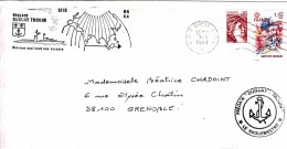 FRANCE FREGATE DUGUAY TROUIN ESCADRE ATLANTIQUE 1981/ 6985 - Poststempel (Briefe)