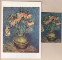 = Vincent Van Gogh Fritillaires Couronne Impériale Dans Un Vase De Cuivre 1886 Magnet Et Carte Postale Musée D'Orsay - Characters