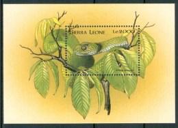 1988  Sierra Leone Rettili Reptiles Set MNH** Sie34 - Sierra Leone (1961-...)