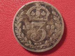 Grande-Bretagne - UK - 3 Pence 1889 5646 - 1816-1901 : Frappes XIX° S.