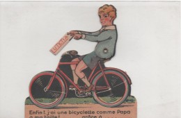 Velo Publicite à Systéme LUTETIA Enfin J\´ai Une Bicyclette Comme Papa