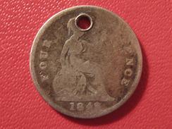 Grande-Bretagne - UK - 4 Pence 1842 - Trouée 5654 - 1816-1901 : Frappes XIX° S.