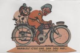 MOTO Publicite à Systéme SAN SOU PAP MOTEX Paris