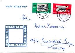 RDA. N°907-8 De 1966 Sur Enveloppe 1er Jour Ayant Circulé. Foire/Télévision.